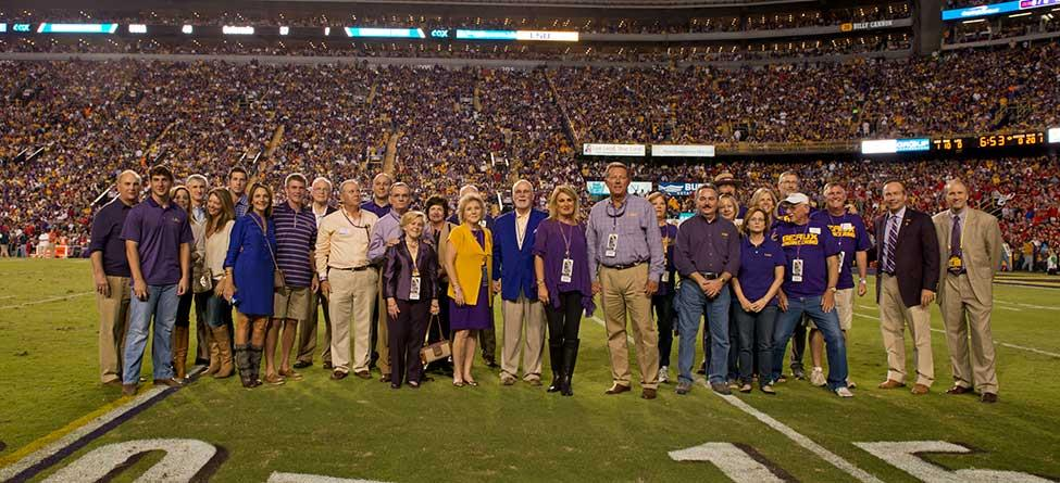 LSU College of Engineering Honors $1 Million Donors at Homecoming Game