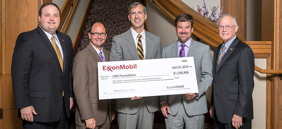 LSU Foundation Receives More Than $1 Million of ExxonMobil's Educational Matching Gift Program
